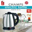 Champs 1.8L Stainless Steel Electric Kettle - KE172 (1 Year Warranty)