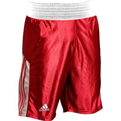 アディダス(adidas) アマチュアボクシング ショーツ M ADITB152-RD-M レッド M 【ボクシング ウェア パンツ 格闘技】の画像