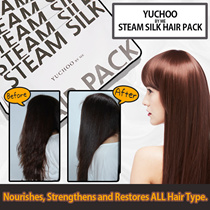 BUY 5 GET 1 FREE! ◤SOFT + SMOOTH RESULTS⇒TANGLE-FREE◢NEW LAUNCH!☆IMMED. RESULTS✓SNOW SOFT HAIR☃ALL HAIR TYPES GREAT FOR DAMAGED DRY HAIR♨YUCHOO STEAM SILK HAIR PACK♨