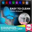 SG Best Quality Light Bowl Motion Activated TOILET LED NIGHT LIGHT/ SANI STICKS