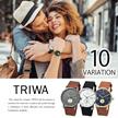 緊急SALE!カートクーポン使用で更にお得に!★トリワ Triwa 選べる10色 レディース メンズ ユニセックス 腕時計 レザーベルト クオーツ ウォッチ プレゼント  ギフト