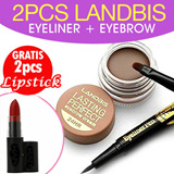 BUY 2 LANDBIS EYELINER+EYEBROW CREAM/GEL ALIS GET 2 PCS LIPSTICK!!