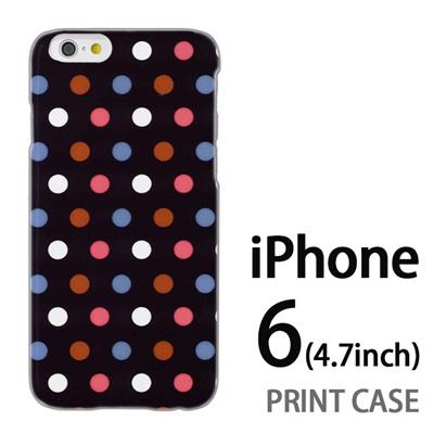 iPhone6 (4.7インチ) 用『0820 ドット S』特殊印刷ケース【 iphone6 iphone アイフォン アイフォン6 au docomo softbank Apple ケース プリント カバー スマホケース スマホカバー 】の画像