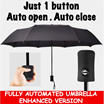 BEST DEAL Automatic open and close Magic Umbrella / Auto Folding Large Double Triangle Rain Umbrella