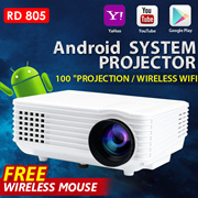 🌟Android PROJECTOR WIFI PROJECTOR RD805🌟1080P USB 3.0 mini portable projec
