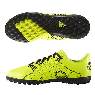 アディダス (adidas) ジュニア エックス 15.4 TF J(ソーラーイエロー×ソーラーイエロー×コアブラック) B32950 [分類:サッカー トレーニングシューズ]の画像