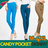 ★[Only 1 DAY Limited Time Sale]★ /PLUS SIZE ~4XL/Free Gift★ Urban Twin Zip Skinny Pants/ Vivid pocket skinny/M~4XL/pocket pants/women skinny/