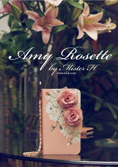 【iPhone/GALAXY/LG G2ケース】Mr.h Amy Rojette スタイリッシュ オリジナル ハンドメイド Diary Case【レビューを書いてネコポス送料無料】の画像