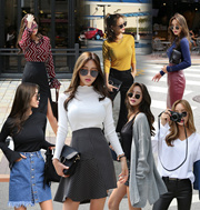 ♥♥Trend of Trend♥♥体型カバーok! 韓国ECサイト1位!!!♥大ヒット商品超特価♥ [ABLELYN]2016new秋新商発売!視・線・集・中40type毎日愛しい★デイリールックコレクション★デイリーコットンティーシャツ