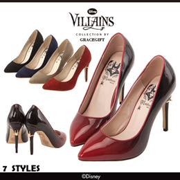 ♥New Arrival♥Gracegift-Disney Villains Maleficent Pointy Toe Ombre Glitter Heels/Women Shoes