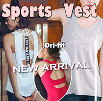 【BIG SALE 9.22-9.24】 HOT Sale ! Sports vest Yoga vest tank top running wear DRI-FIT premium New arri