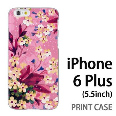 iPhone6 Plus (5.5インチ) 用『0310 水中の花 ピンク』特殊印刷ケース【 iphone6 plus iphone アイフォン アイフォン6 プラス au docomo softbank Apple ケース プリント カバー スマホケース スマホカバー 】の画像