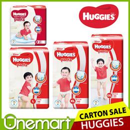 [HUGGIES] Carton Sales Total Protection Diaper Pants ★ New Version Size  M / L / XL / XXL