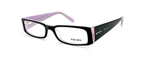 【クリックでお店のこの商品のページへ】Prada Vpr 10F 3Ax-1O1 Black/Lavender Eyeglasses