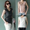 Mayblue] ★ Free Shipping ★ ♥ Korea Women's Clothing Tops / Shirts/ Sleeveless Tee