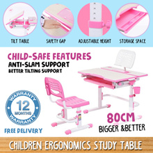FREE 12 Months Warranty Children Ergonomics Study Table and Chair Newly Added Features Kids Table