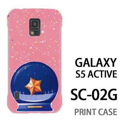 GALAXY S5 Active SC-02G 用『1220 星水晶 ピンク』特殊印刷ケース【 galaxy s5 active SC-02G sc02g SC02G galaxys5 ギャラクシー ギャラクシーs5 アクティブ docomo ケース プリント カバー スマホケース スマホカバー】の画像