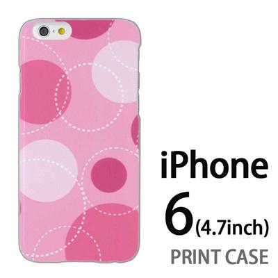 iPhone6 (4.7インチ) 用『0821 丸 ピンク』特殊印刷ケース【 iphone6 iphone アイフォン アイフォン6 au docomo softbank Apple ケース プリント カバー スマホケース スマホカバー 】の画像