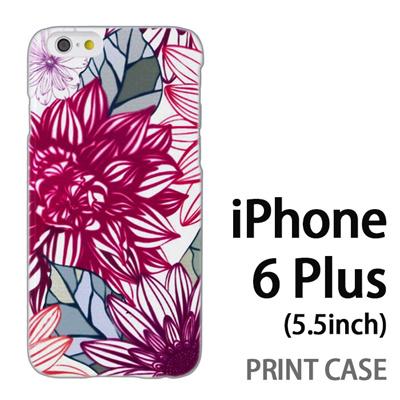 iPhone6 Plus (5.5インチ) 用『0310 満開の花ビラ 赤』特殊印刷ケース【 iphone6 plus iphone アイフォン アイフォン6 プラス au docomo softbank Apple ケース プリント カバー スマホケース スマホカバー 】の画像