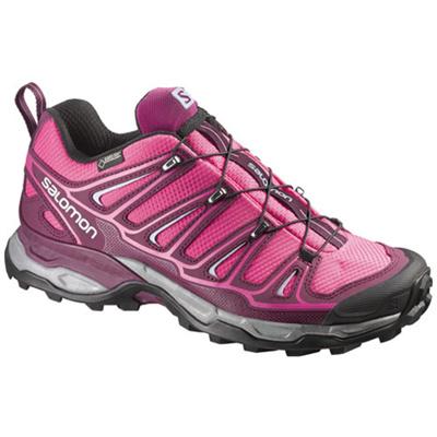 サロモン(SALOMON) ウルトラ2ゴアテックス(X ULTRA 2 GTXR) W's HOT PINK/Bordeaux/PEBBLE BLUE L37159400 【アウトドアウェア スポーツウエア ランニングシューズ 靴 レディース】の画像