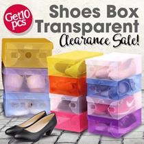 ID Get 10 pcs - MULTIPLE COLOR BOX TRANSPARENT SHOES BOX - BEST SELLER