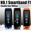 F1 Heart Rate Monitor Smart Bracelet Sport Fitness Waterproof Remote for Android iOS-Waterproof