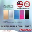 [Malaysia Seller - BarangAsia.com] Super Slim / Slimmest Aluminium Polymer 20000mAh Power Bank with Dual-Port output and LED torch light.