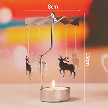 Fashion Rotary Spinning Tealight Candle Metal Tea light Holder Carousel Home Decor Gift Oct23