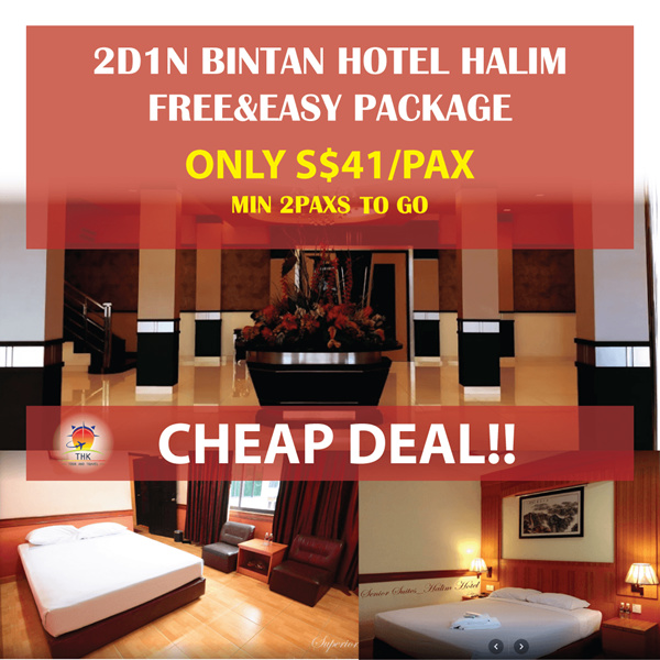 2D1N Bintan HALIM Hotel FREE AND EASY PACKAGE(MIN 2PAXS TO GO) Deals for only S$100 instead of S$0