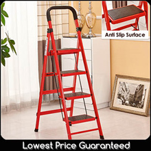 Ladder 3 4 5 steps/ Foldable/ large anti slip board / sturdy stable compact