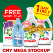 [PnG]【2+1+1 DYNAMO DOWNY BUNDLE DEAL!】Worth $11.40! Guaranteed Removes 100 Stains in 1 Wash. Improved Formula. 50% More Cleaning Power Than Ordinary Liquids!
