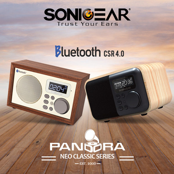 SONICGEAR Pandora Neo Classic High Quality Bluetooth™ CSR 4.0 Speaker Deals for only S$90 instead of S$0