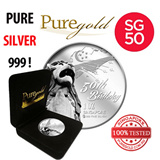 Silver Coin: Singapore 50th Anniversary Birthday silver coin 1oz by Puregold.sg Merlion