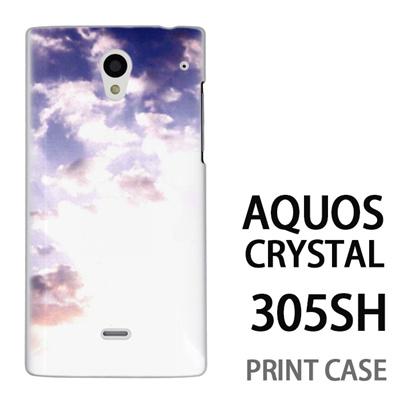 AQUOS CRYSTAL 305SH 用『1218 冬の空』特殊印刷ケース【 aquos crystal 305sh アクオス クリスタル アクオスクリスタル softbank ケース プリント カバー スマホケース スマホカバー 】の画像