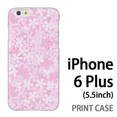 iPhone6 Plus (5.5インチ) 用『0311 桜模様 ピンク』特殊印刷ケース【 iphone6 plus iphone アイフォン アイフォン6 プラス au docomo softbank Apple ケース プリント カバー スマホケース スマホカバー 】の画像