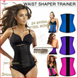 ❤NEW ARRIVALS INSTOCKS READY❤ Latex Waist Trainer Women Corsets Kim Kardashian/Amber Rose  Bustier Sexy Waist cinching training Underbust corselet body shapers for trainer