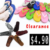 $4.90 Flat Clearance Assorted FlipFlop