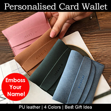 [CHRISTMAS GIFT]♥Embossed Name Card Wallet| UNISEX Korea|Personalised Gift Singapore christmas gifts