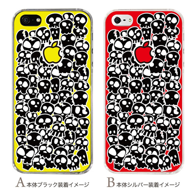 【iPhone5S】【iPhone5】【Clear Arts】【iPhone5ケース】【カバー】【スマホケース】【クリアケース】【ハード・クール】【SKULL】 42-ip5-pnsk005の画像
