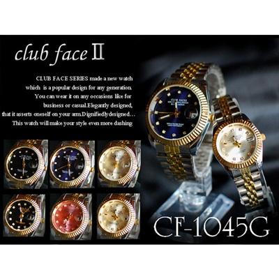 メンズandレディース腕時計  魚眼レンズ日付 コンビタイプ 全6色の画像