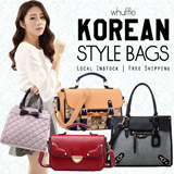 [Whuffle] PREMIUM KOREAN LEATHER BAGS*NEW ARRIVALS*16MAR*/Office Bag/Casual Bag/Christmas/Chinese New Year/Assorted Bags/Korean/Taiwan Tote/Classic/Celebrity Bag/Work Bag Premium PU Leather Quality