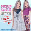 [PRINTED COTTON DRESS]  XS-XXL/PLUS SIZES/ PREMIUM / COTTON PRINTED/ PLUS SIZE/ OFFICE/ DINNER/ WORK
