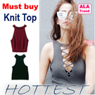 ◆4th May NEW!Crop and knitted top/new arrivals◆ALA TREND◆CROP TOPS/crops/sleeveless crop top/loose crop top/long sleeves crop top