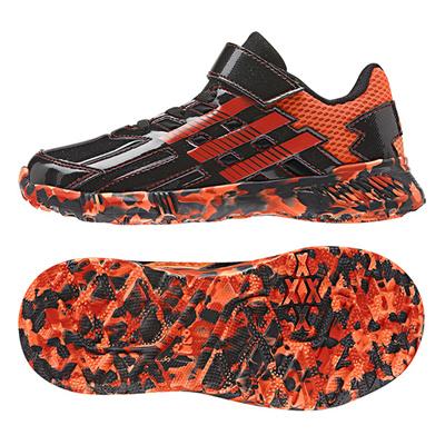 アディダス (adidas) ジュニア アディダスファイト EL K(コアブラック×ボールドオレンジ×ソーラーオレンジ) B24092 [分類:キッズ・子供靴 スニーカー]の画像