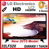 LG LED TV 32inch 32LF520 with SMART ENERGY SAVING ~ Garansi 1 Tahun ~ ONLY FREE JABODETABEK
