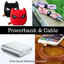 [New] Cute Xiaomi Powerbank 7800mAh 10000mAh | Premium Data Cable | Charger for ios Android Phone