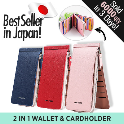 NEW!! Free Shipping!10 Colours Fashion Women / Men / 2 in 1 Wallet with Cardholder/ Japan Bestseller Deals for only S$169 instead of S$0