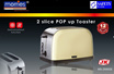 MORRIES MS 2500SS 2 SLICE POP UP TOASTER (STAINLESS STEEL BODY)