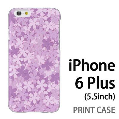 iPhone6 Plus (5.5インチ) 用『0311 桜模様 紫』特殊印刷ケース【 iphone6 plus iphone アイフォン アイフォン6 プラス au docomo softbank Apple ケース プリント カバー スマホケース スマホカバー 】の画像