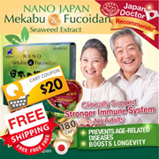 [BUY 1 FREE DELIVERY! $28.90ea*!] ★ORIGINAL FUCOIDAN EXTRACT ★CLINICALLY* PREVENTS AGING DISEASE ★JP